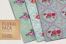 9 Floral Patterns Vol 8