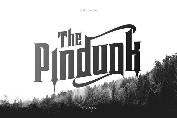 Pindunk Decorative Typeface 30% Off