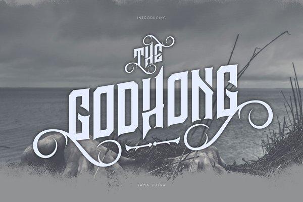 Godhong Decorative Font 30% Off