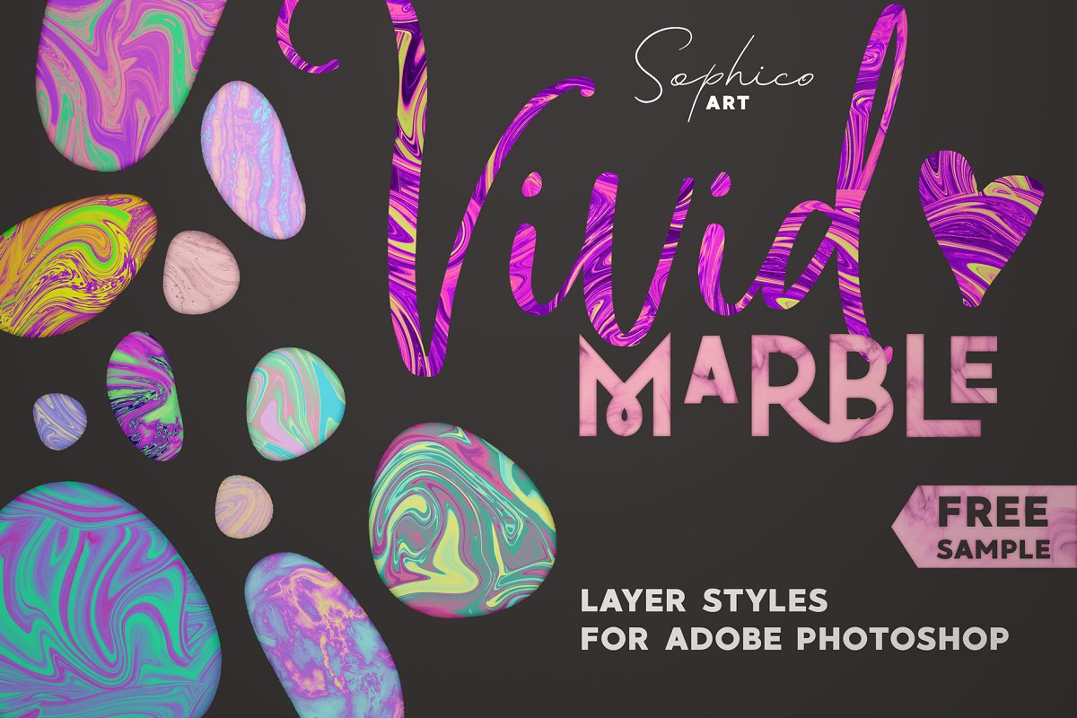 Vivid Marble Effect For Photoshop