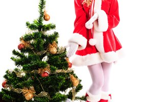 Christmas santa girl