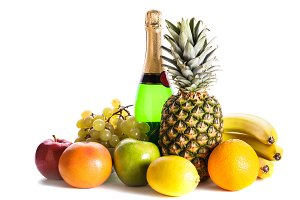 Fruits and champagne