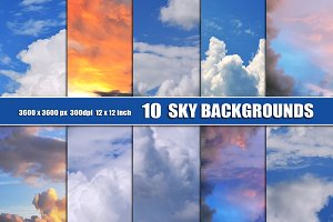 Sky Clouds background backdrop
