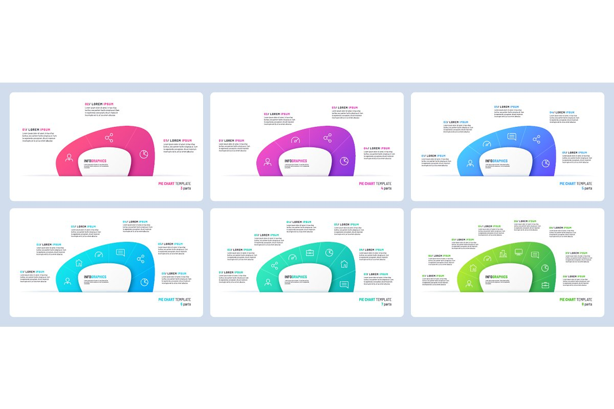Pie chart infographic templates