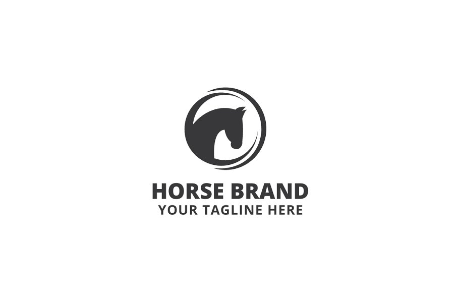 Horse Brand Logo Template