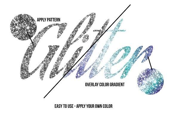 100% Vector Glitter Texture Patterns