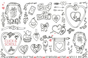 Valentines day,love decor set 02