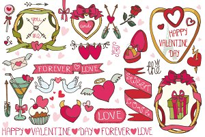 Valentines day color decor set03