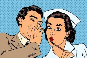 diagnosis patient nurse and male