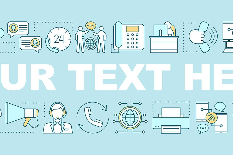 Call center word concepts banner