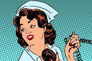 Nurse hospital phone health medical