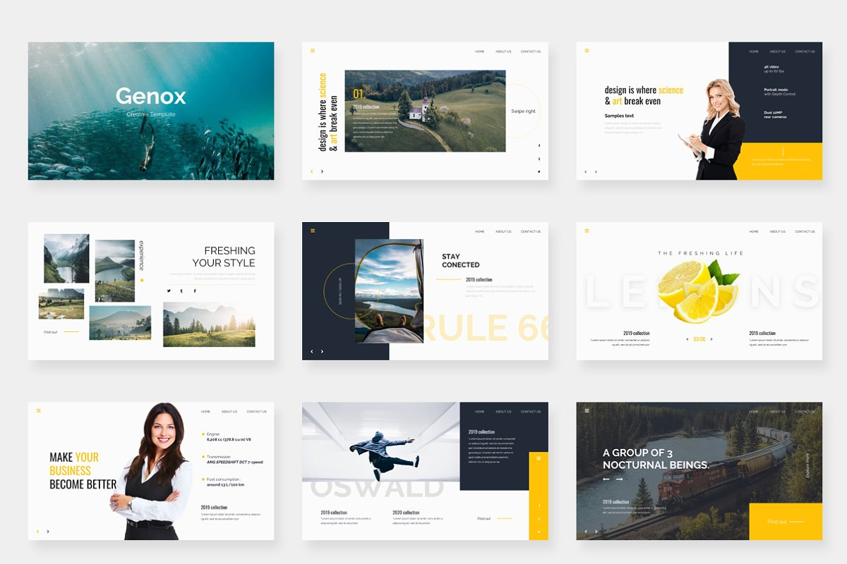 Genox Premium Powerpoint Template in PowerPoint Templates - product preview 1