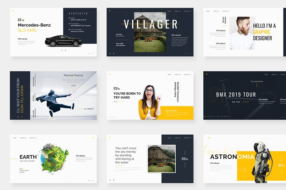 Genox Premium Powerpoint Template in PowerPoint Templates - product preview 3