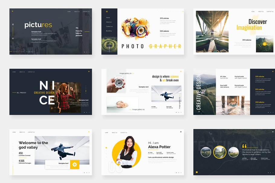 Genox Premium Powerpoint Template in PowerPoint Templates - product preview 4