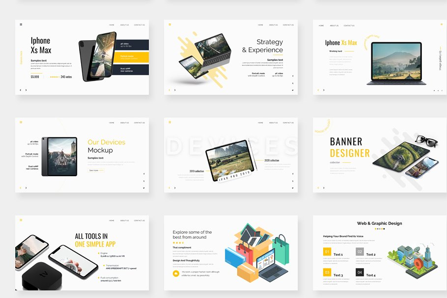 Genox Premium Powerpoint Template in PowerPoint Templates - product preview 7