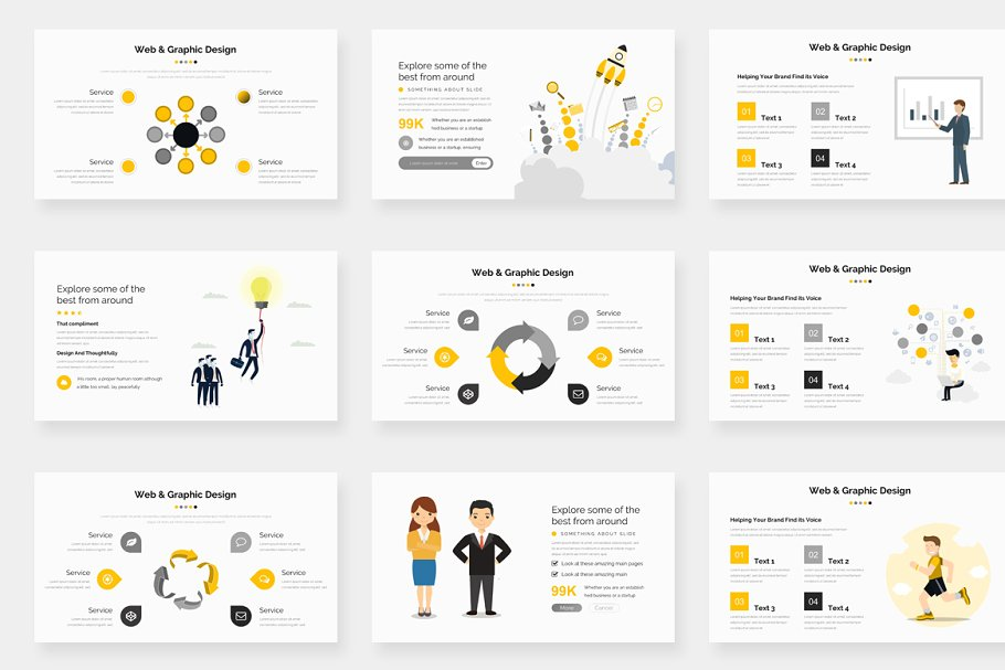 Genox Premium Powerpoint Template in PowerPoint Templates - product preview 8
