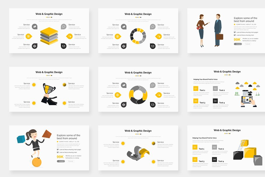 Genox Premium Powerpoint Template in PowerPoint Templates - product preview 9
