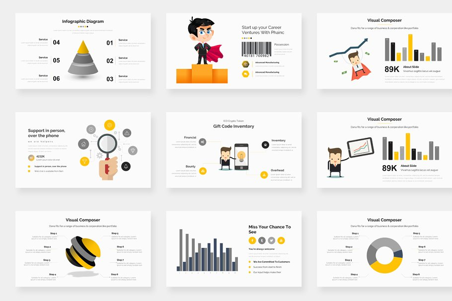 Genox Premium Powerpoint Template in PowerPoint Templates - product preview 12
