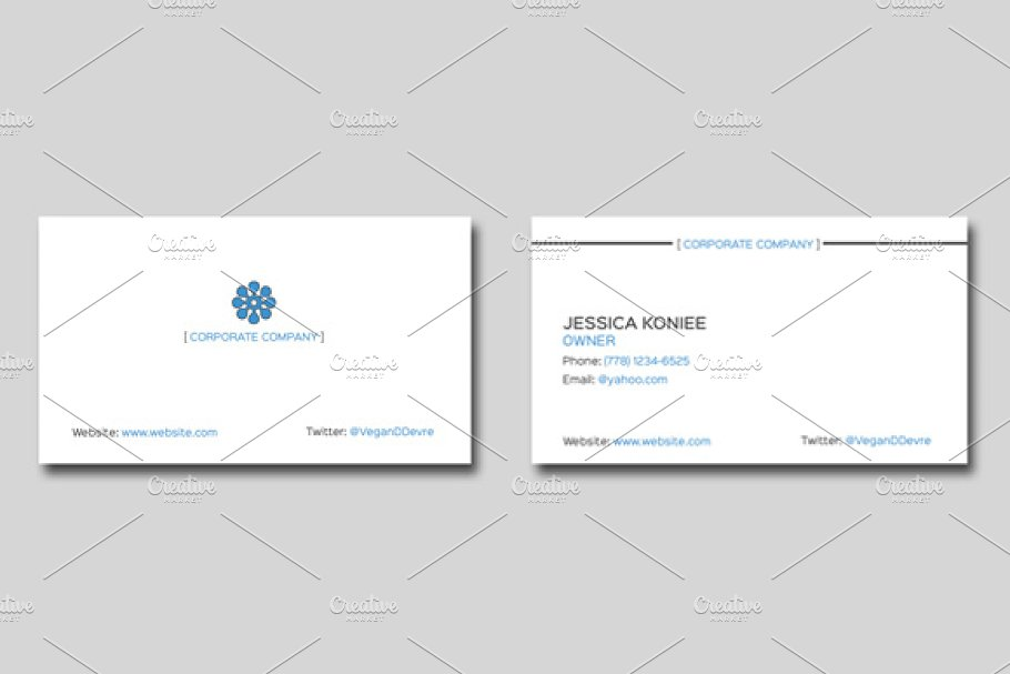 Simple Corporate Business Card in Business Card Templates