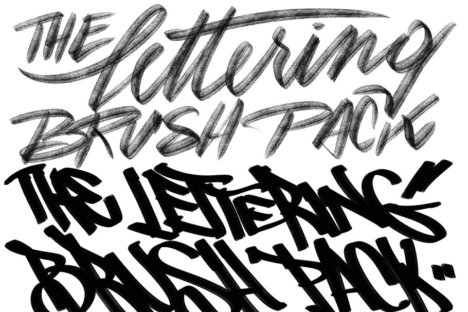 The Procreate Lettering Brush Pack