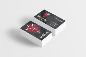 Devil Pin Monster Business Card