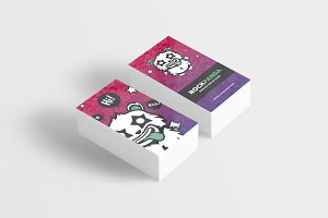 Rock Panda Monster Business Card
