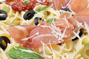 Pasta with gammon