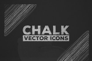 Chalk Effect Vector Icons.