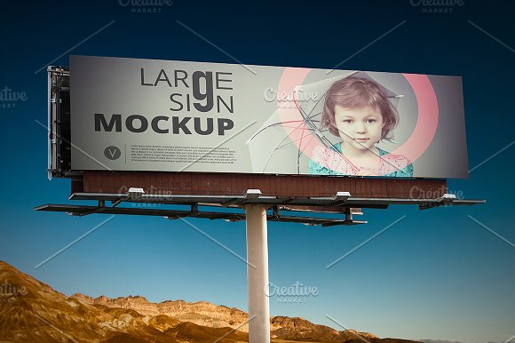 Download Large sign Billboard mockup