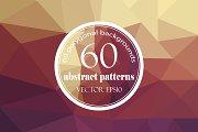 Set of 60 polygonal backgrounds
