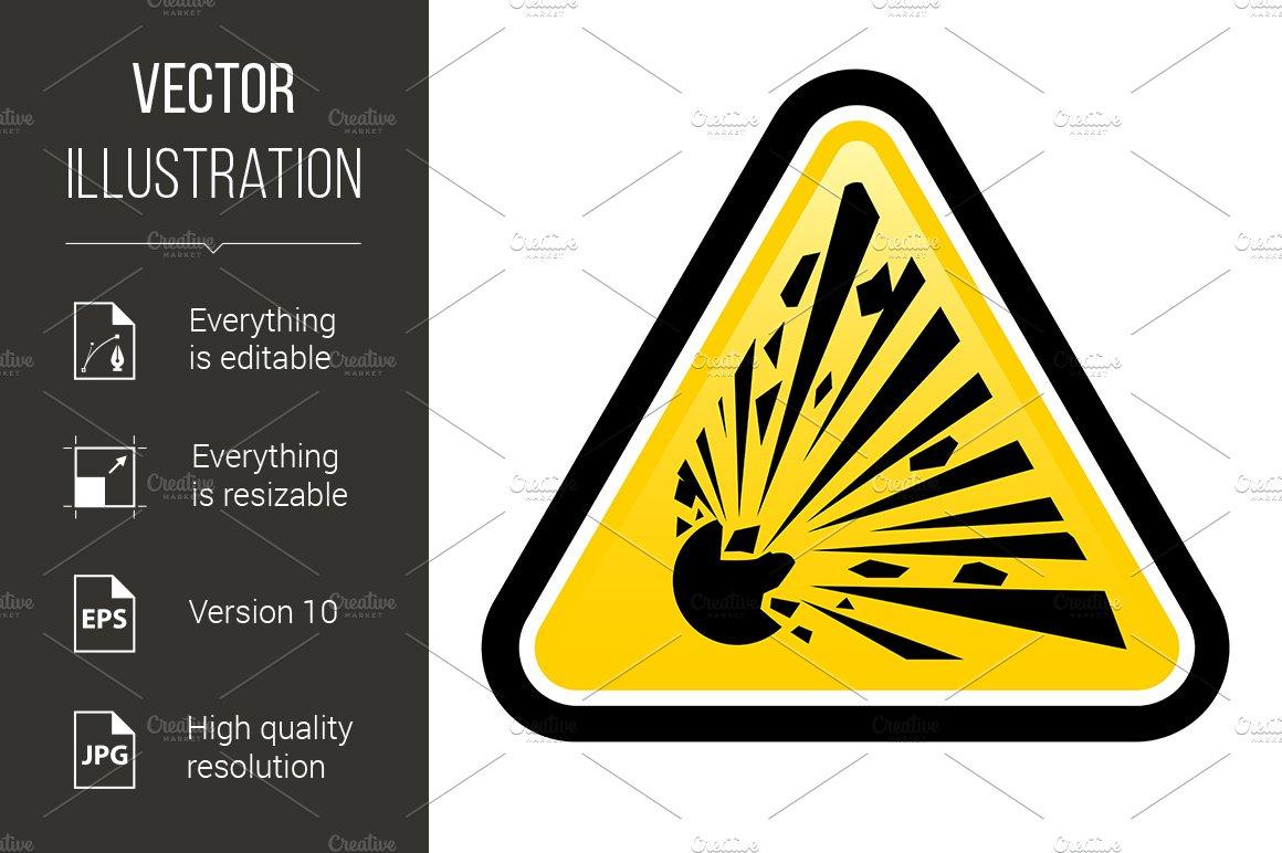 Explosive Hazard Sign