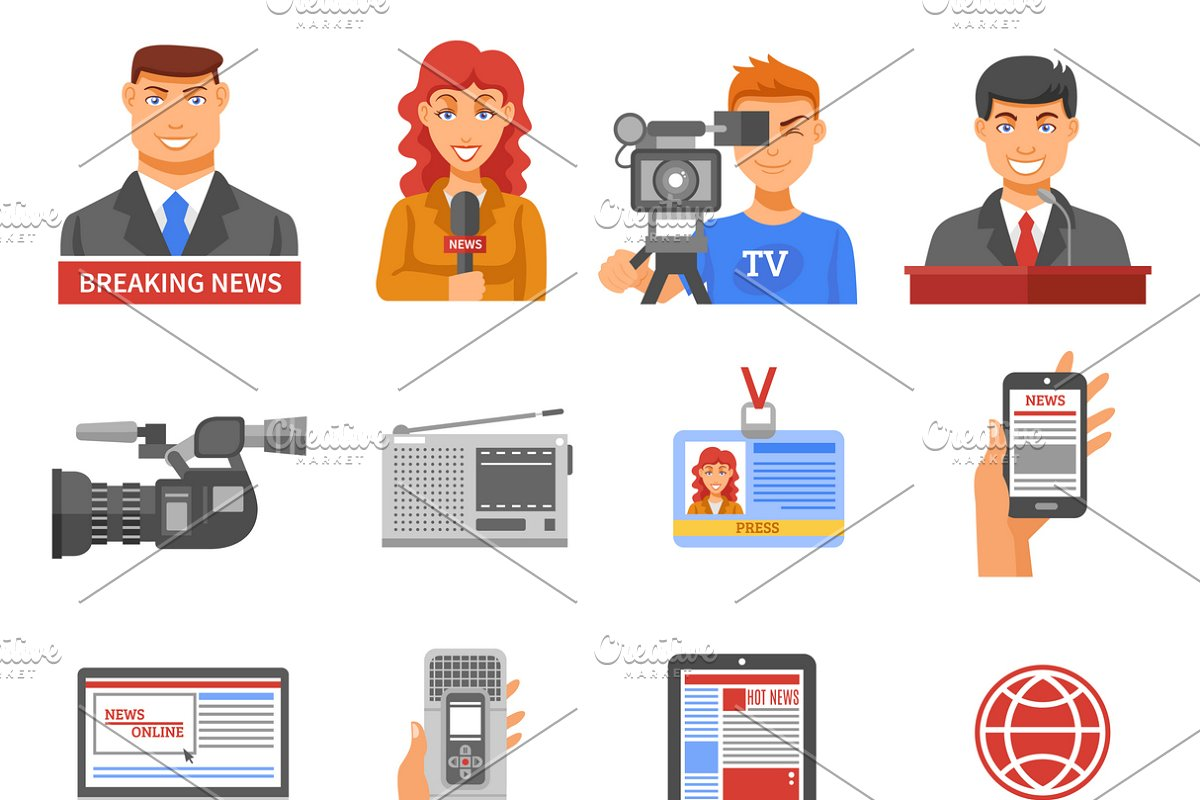 Media icons set in Icons - product preview 8