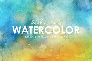 50% OFF Watercolor Backgrounds
