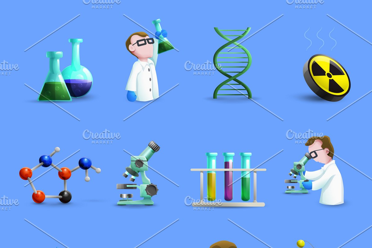 Science laboratory equipment icons in Icons - product preview 8