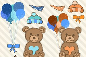Blue Teddy Bear Clipart