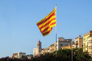 Catalan flag in Girona (1)