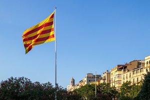 Catalan flag in Girona (2)