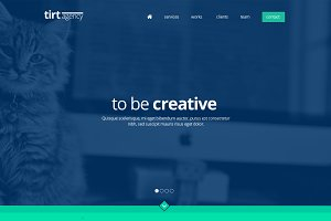 tirt agency - Onepage PSD Template