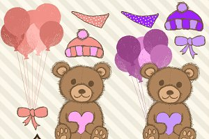 Pink Teddy Bear Clipart