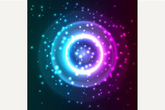 Abstract background with particles.