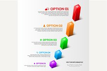 Modern 3D charts infographic