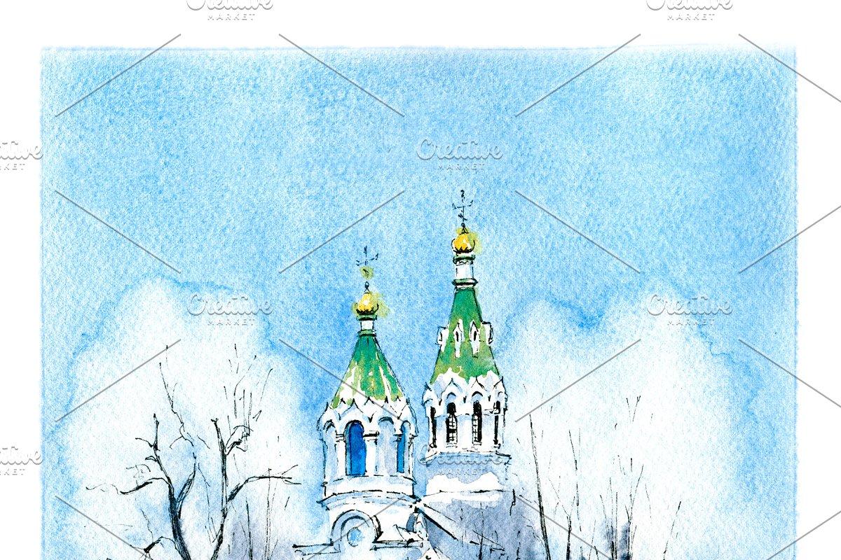 Winter typical orthodox church