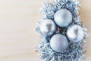 Silver christmas table decor