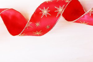 Shiny red swirl ribbon