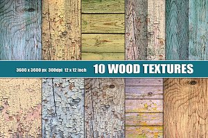 Distressed wood texture set
