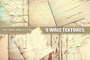 White wall cracks texture overlay