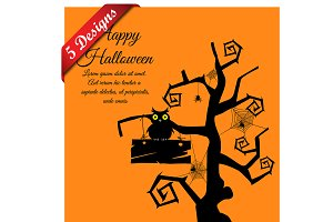 5 Halloween Greeting Cards