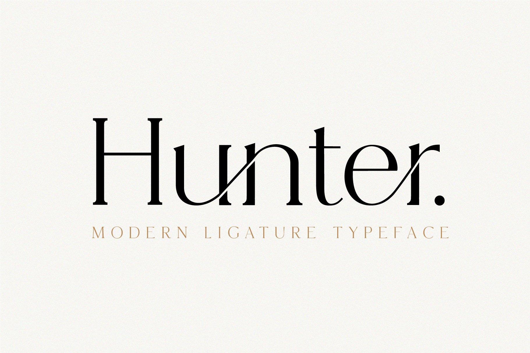 Hunter - Serif Ligature Font ~ Serif Fonts ~ Creative Market