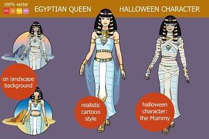 Egyptian Queen Halloween character