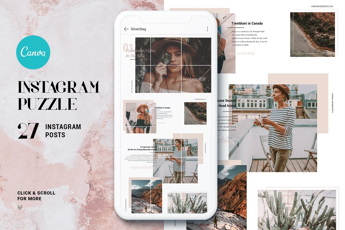 #InstaGrid 1.0 Canva Puzzle Template